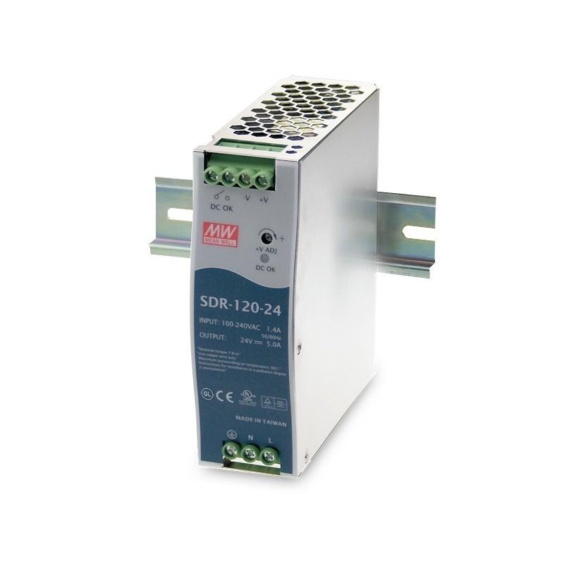 Alimentatore 120W SDR-120 per guida din