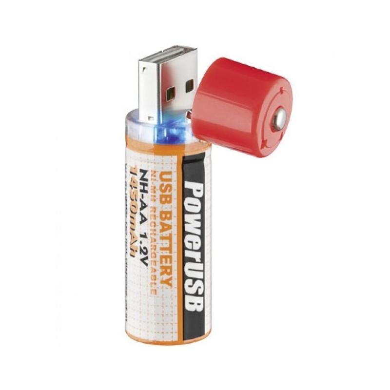 Batteria USB  AA Stilo NiMH Ricaricabile 2pz