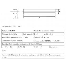 Tondino  in ferrite 10x160 mm ANRA 1170