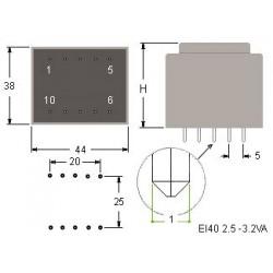 Trasformatore Resinato 8.5 VA EI48