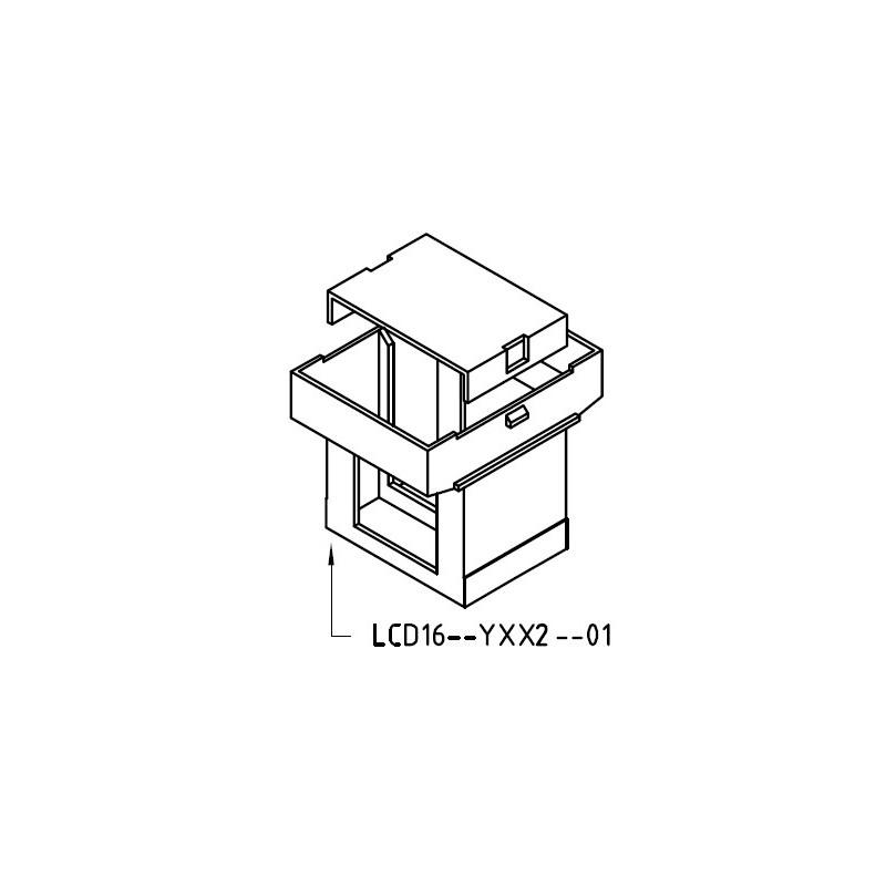 Guscio 16x25 Z6/DG completo di testata