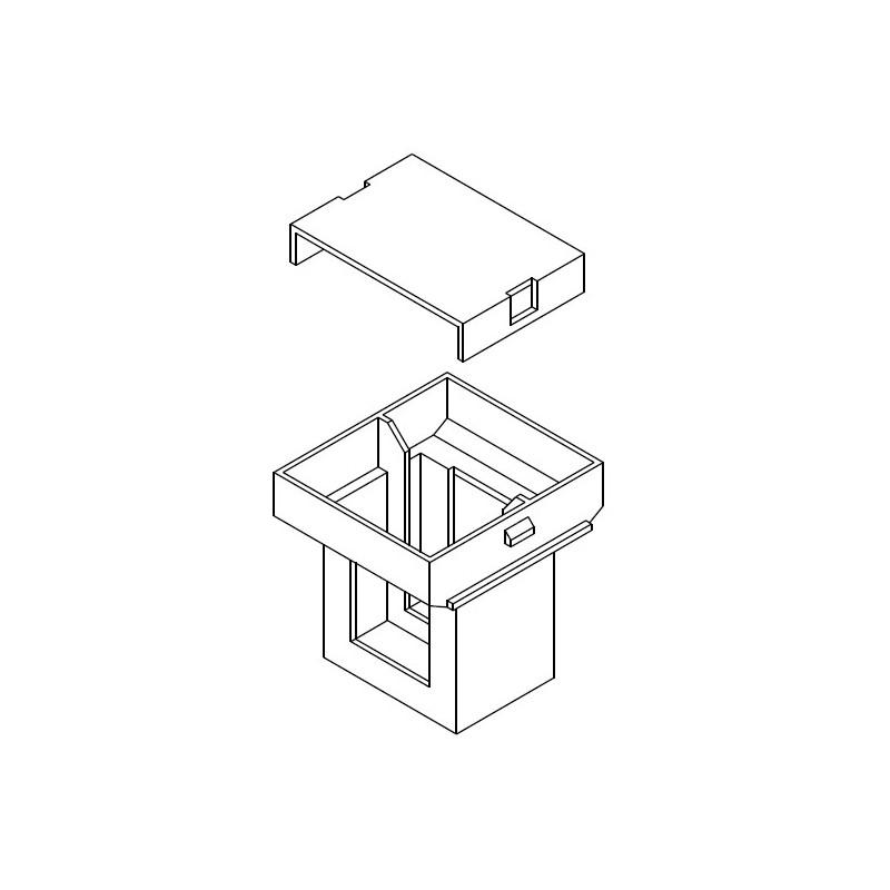 Guscio 14x14,8 Z6/DG completo di testata
